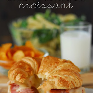 The Best Ham And Cheese Croissants.