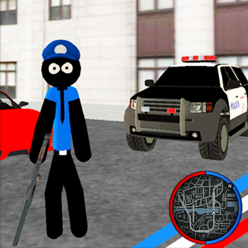 Image result for police Stickman Rope Hero hack