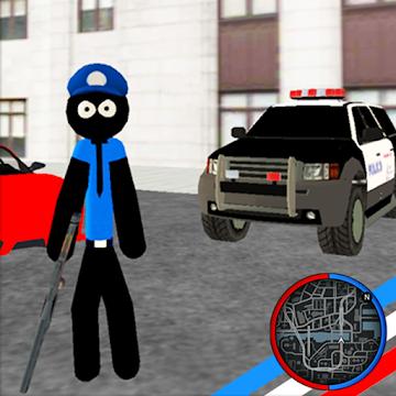 US Police Stickman Rope Hero Vegas Gangstar Crime