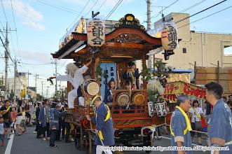 Photo: 【平成21年(2009) 宵宮】  山車の出発準備。いよいよ宵宮が始まる。