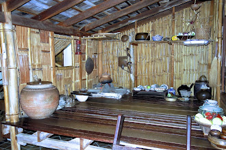 Photo: a display of a traditional Thai kitchen in Sgt. Thawee's Folk Museum, Phitsanulok