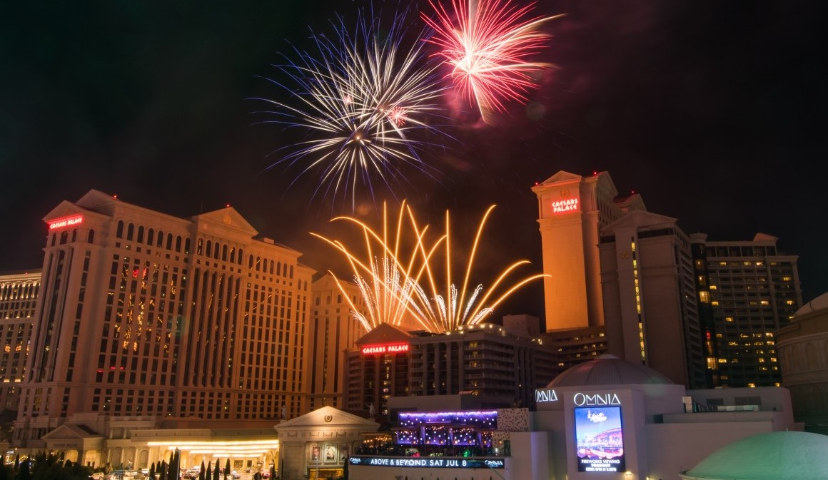 Las Vegas set up to recieve the 4th of July 2021