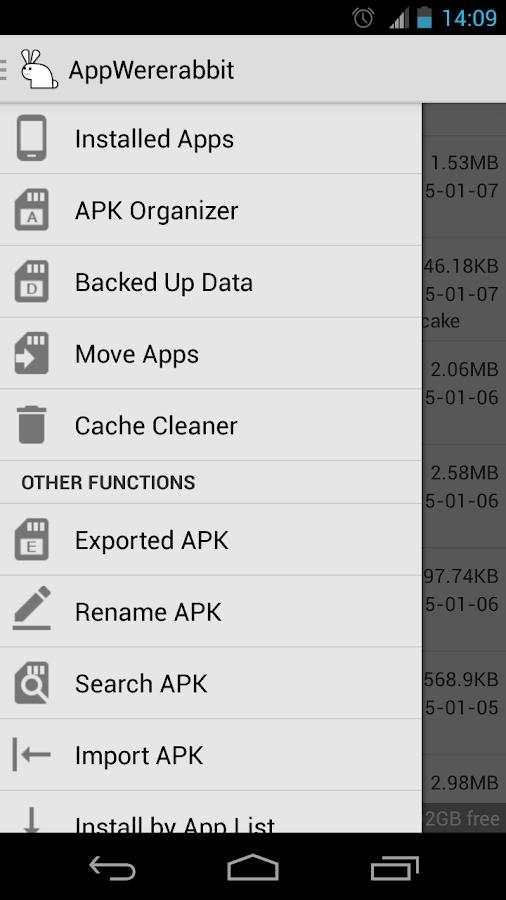 AppWererabbit Backup- screenshot