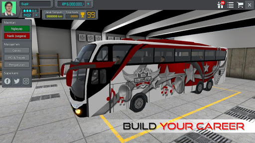 Bus Simulator Indonesia  gameplay | by HackJr.Pw 6