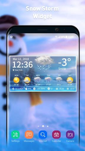 Live weather & clock widget screenshots 3