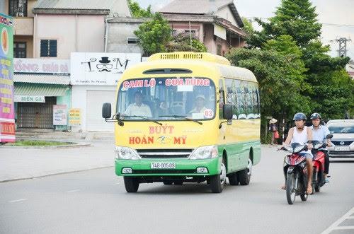 Bãi biển Cửa Tùng có tuyến xe buýt mới