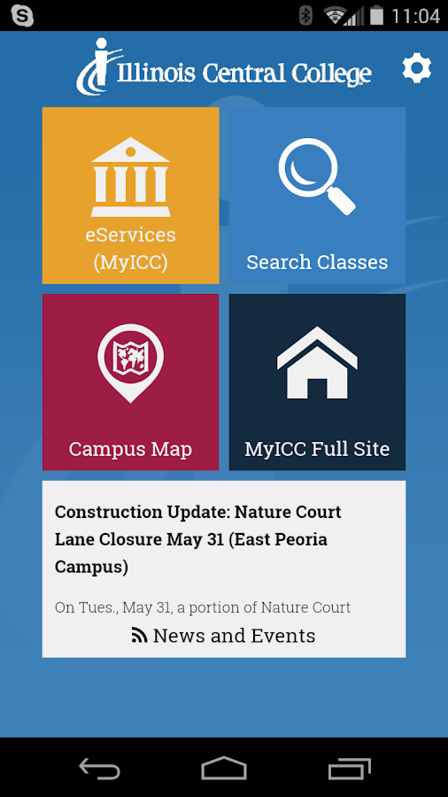 MyICC Illinois Central College- screenshot