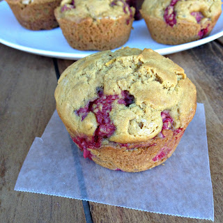 Whole Wheat Lemon Raspberry Muffins.