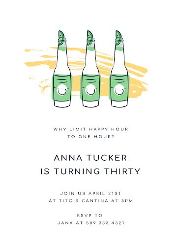 Anna's 30th Birthday - Birthday Card Template