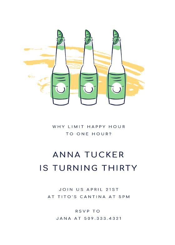 Anna's 30th Birthday - Birthday Card Template
