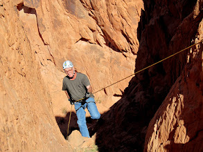 Photo: Paul rappelling