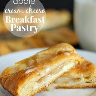 Apple Cream Cheese Breakfast Pastry.