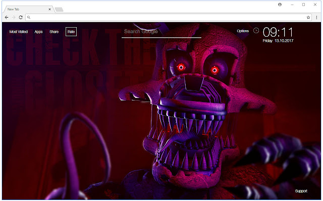 Foxy Wallpaper FNAF New Tab Themes