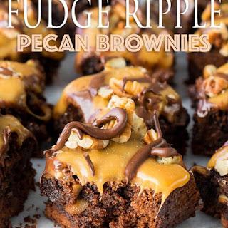 Fudge Ripple Pecan Brownies