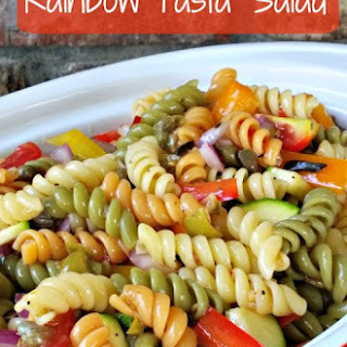 Rainbow rotini pasta salad recipe