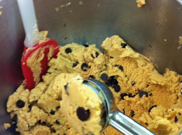 Scoop with a # 50 scoop, place on a lined cookie sheet