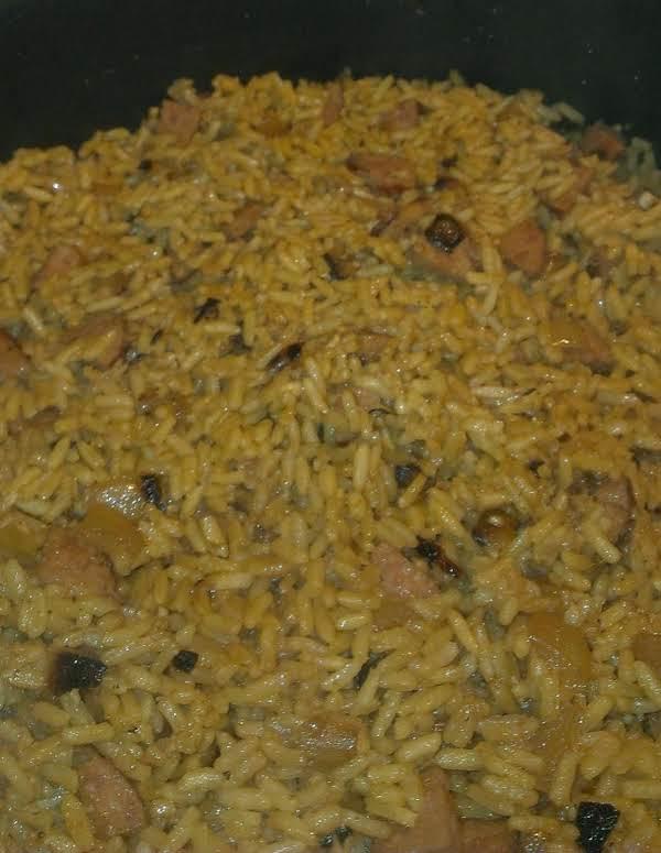 Kielbasa Sausage W/sauteed Onions & Rice Recipe