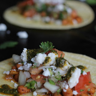 Spicy Pinto Bean Tacos with Chimichurri