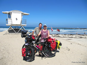 Photo: (Year 3) Day 32 - The Start of our Coast to Coast Ride Across the USA (The Pacific Ocean in San Diego) #2