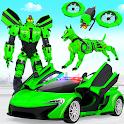 Police Dog Drone Robot Car Game icon