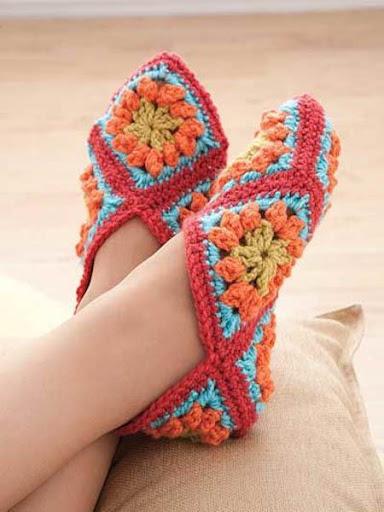 DIY钩针编织拖鞋