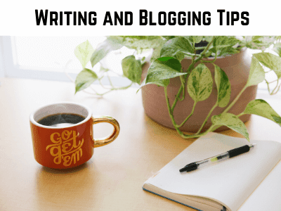 a pen and a paper photo used as a cover photo for the writing and blogging tips section on the blog on my canvas