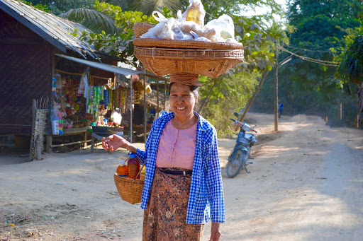 "myanmar-local-woman-4.jpg - Ellen Miller on Myanmar: ""Our time walking in the markets and villages was insightful, and we encountered wonderfully friendly people everywhere."""