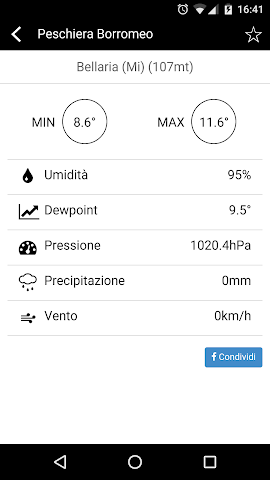 android MeteoNetwork Screenshot 1