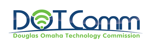 DotComm / Omaha + Douglas County logo