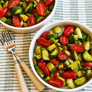 Not-so-Dumb Salad Recipe with Cucumbers, Tomatoes, Onions, Avocado, and Balsamic Vinegar