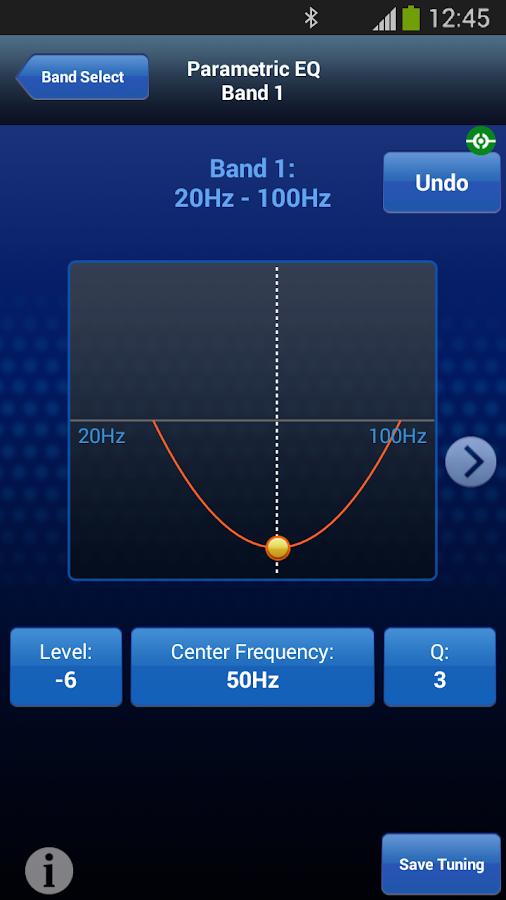 Alpine TuneIt App- screenshot