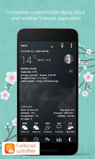 Weather Clock Widget Daily