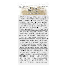 Tim Holtz Idea-Ology Remnant Rubs Rub-Ons - Christmas Tiny Text