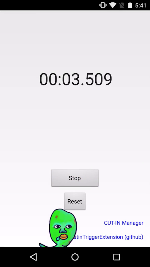 Sample Stopwatch for CUT-IN- screenshot