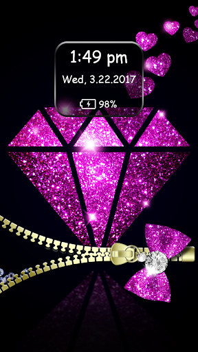 Diamond Zipper Lock Screen 3.5 screenshots 5