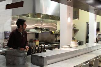 Photo: Yaron in the kitchen.