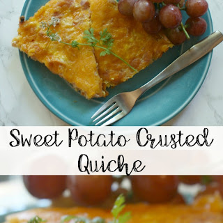 Sweet Potato Crusted Quiche