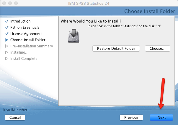 Mac SPSS Install Location