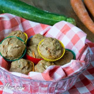 Sugar Free & Dairy Free Mini Carrot Zucchini Muffins.