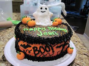 "Photo: Jean's ""BOOday"" Cake October 2010 Blog Post: http://createsharerepeat.blogspot.com/2010/10/project-of-week-booday-cake.html"