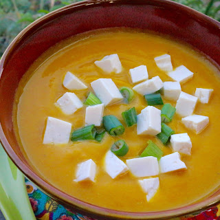 Miso Kabocha Soup with Tofu