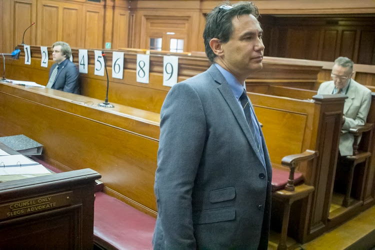 Henri van Breda in the dock and Marius Joubert.