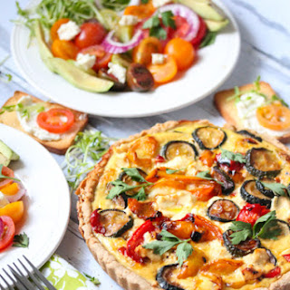 Goat Cheese and Vegetable Quiche.