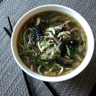 Zucchini Noodle Miso Soup