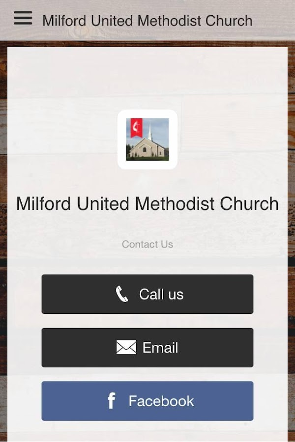 Milford UMC- screenshot