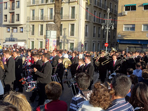 Photo: To each processional guild there is a marching band with fifty plus musicians
