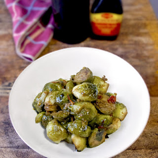 Brussels Sprouts with Maggi Seasoning.