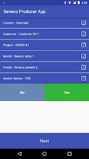 Seneco Producer App - náhled