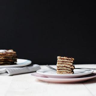 The Easiest Fluffy Banana Coconut Pancakes.