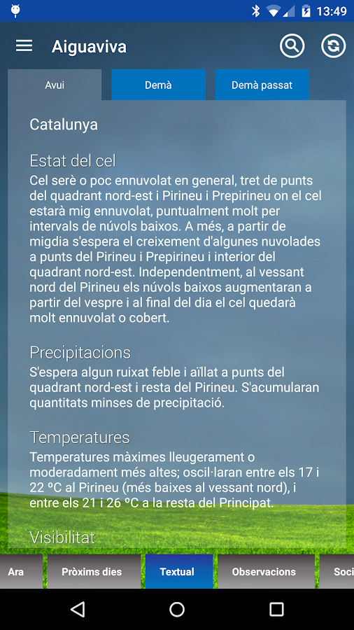 El Temps- screenshot
